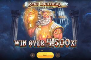 Новий слот Zeus Lightning: Power Reels від RedTiger